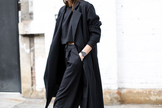 modern legacy blogger coat stripes classy two-piece