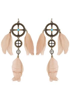 Medicine Wheel Feather Earrings By Pamela Love** - Topshop