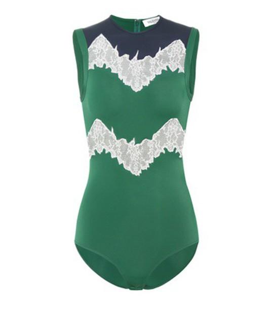 Valentino body lace green underwear