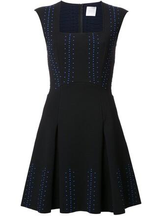 dress embroidered women black
