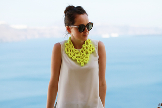 necklace andy style scrapbook yellow jewels jewels dress