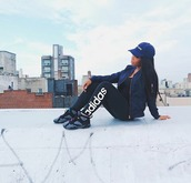 leggings,aaliyah jay,on da roof.,social media famous,adidas,jordans,on fleek,posted up earlier,black & blue,jumpman,jacket,sports leggings