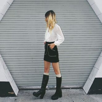 skirt nastygal suede fall outfits style fashion outfit mini skirt black