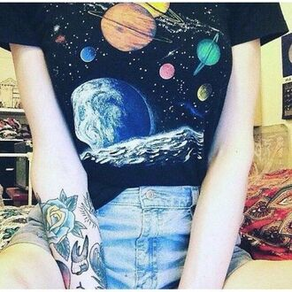 shirt t-shirt blouse space universe