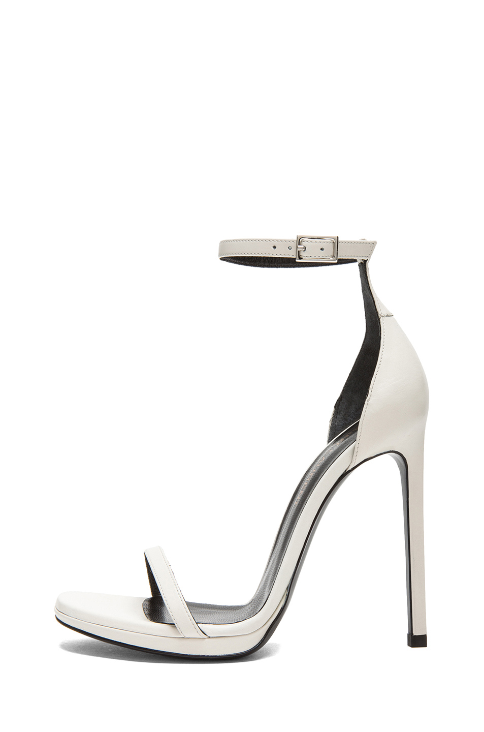 Saint Laurent | Jane Leather Ankle Strap Sandals in White