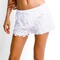 White dash short - elite fashion swimwear
