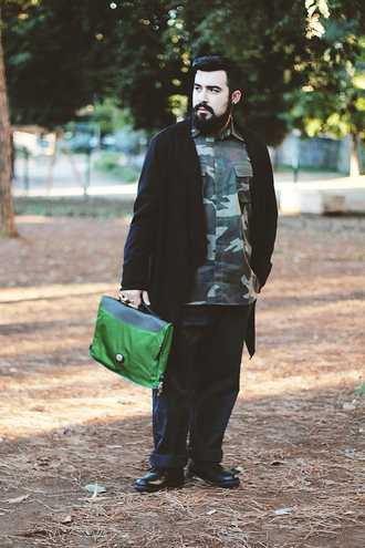 guy overboard blogger camouflage menswear