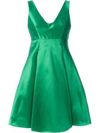 dress pleated dress pleated women silk green