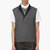 krisvanassche grey wool diamond pinstripe vest