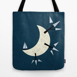 bag tote bag fantasy moon full moon ship society6
