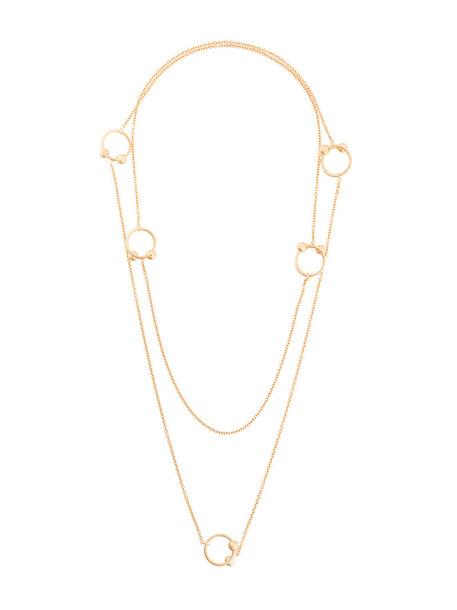 JW Anderson women necklace gold grey metallic jewels