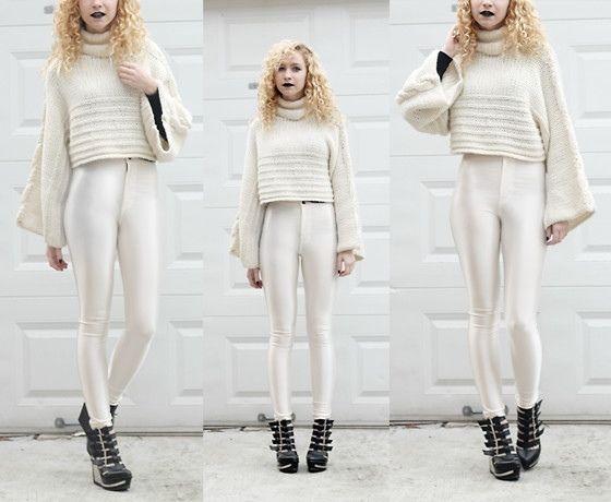 American apparel 100 authentic pearl disco pants size medium