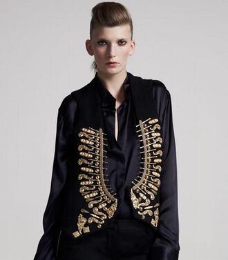 jacket embellished embellished vest