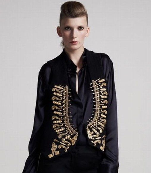 jacket embellished embellished jacket embellished vest
