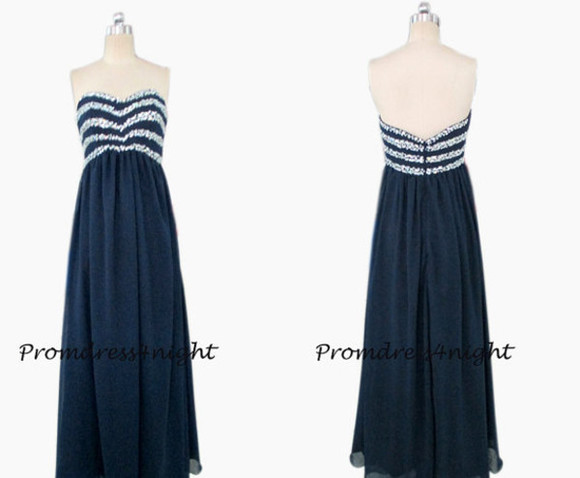 navy dress navy prom dress long prom dress navy evening dress 2015 prom dress cheap evening gown prom gown navy dark navy prom dress