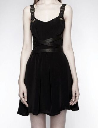 dress leather awesome! little black dress