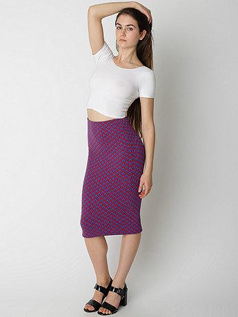 Jacquard Mid-Length Pencil Skirt | American Apparel