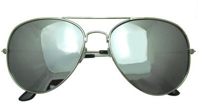 Mirrored aviator sunglasses in silver