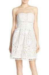 dress,bustier dress,crochet dress,lace dress