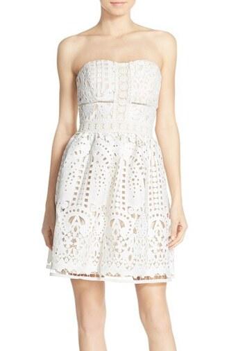 dress bustier dress crochet dress lace dress