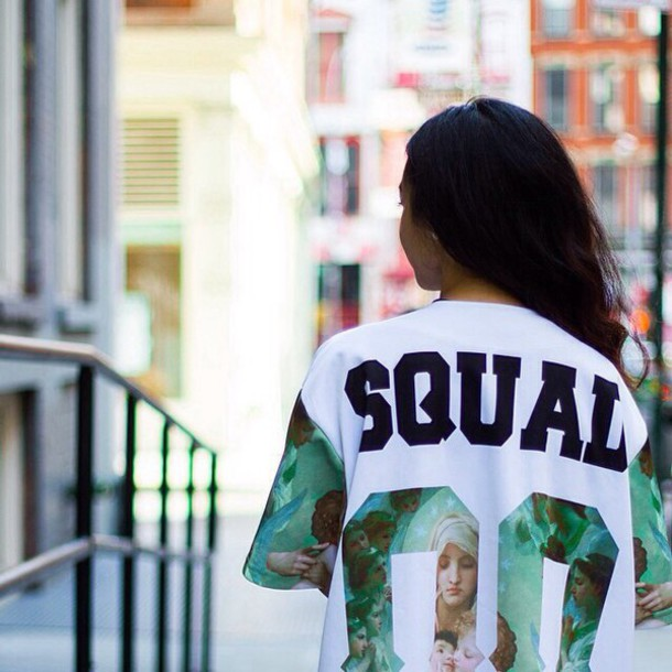top squad white t-shirt