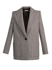 jacket,wool jacket,black,wool,houndstooth