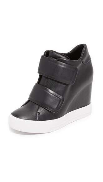 sneakers black wedge sneakers shoes