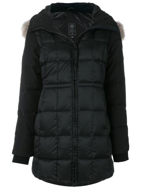 canada goose jacket fur women cotton black