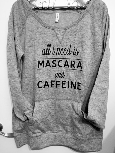 """mascara"" athletic heather burnout fleece sweatshirt · cecil lola · online store powered by storenvy"