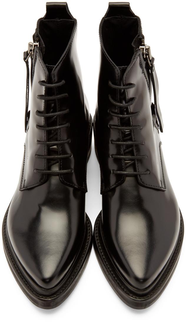 Acne Studios - Black Linden Ankle Boots 7e82ed685f2