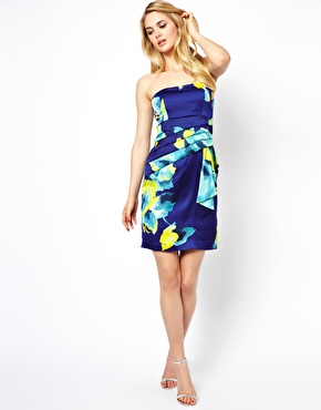 Coast | Coast Tinae Bandeau Dress with Floral Print at ASOS