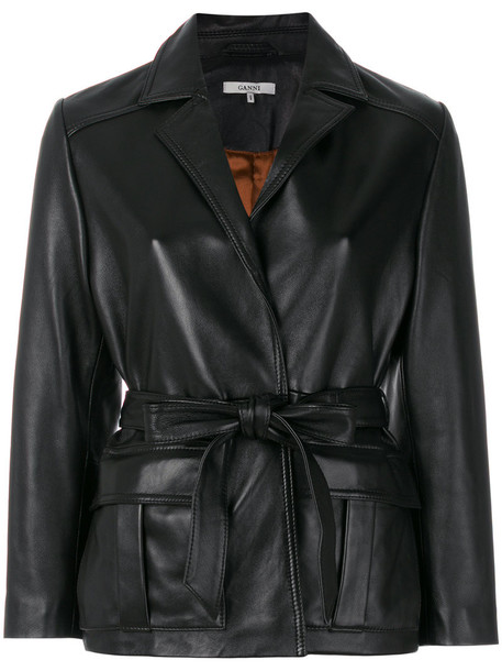 Ganni jacket biker jacket women black