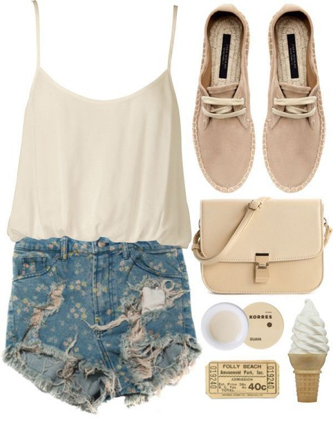 shorts blouse top