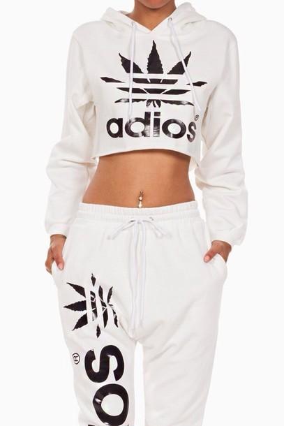 Lethalbeauty ? adios hooded crop top sweater