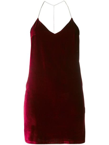 Amiri - straight-fit vest top - women - Silk/Spandex/Elastane/Viscose - 4, Red, Silk/Spandex/Elastane/Viscose