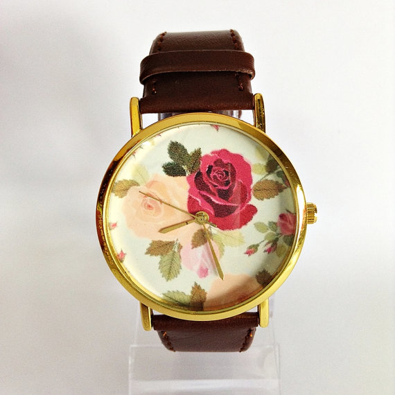Floral Watch Rose Vintage Style Watch Victorian by FreeForme