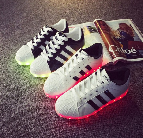 ca6131dea775e1 shoes, led shoes, adidas, adidas superstars - Wheretoget