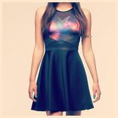 dress,galaxy print,heart,love,mini,galactic,stars,space,mesh,makeup table,dress to kill,vanity row