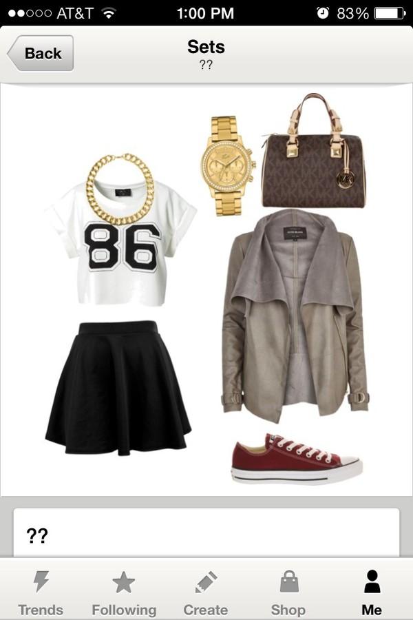 bag michael kors skirt shirt shoes coat jewels