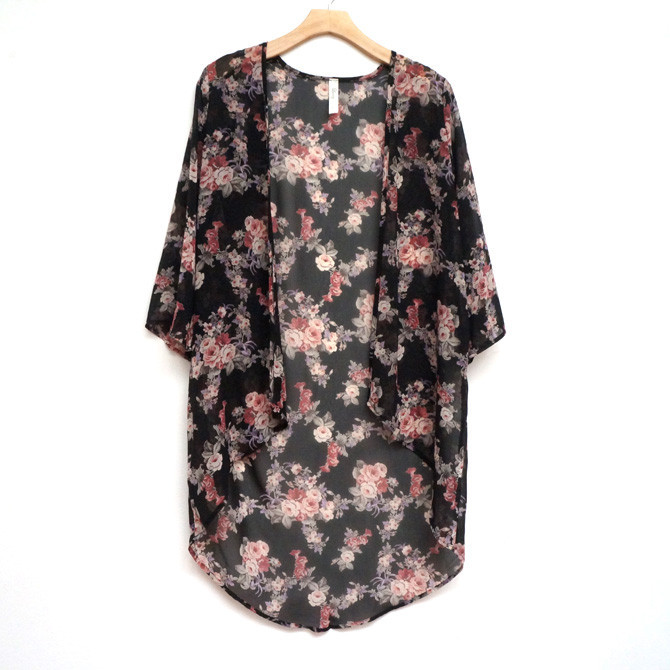 Chiffon Kimono Cardigan | Affordable Junior Clothing & Plus Sized ...