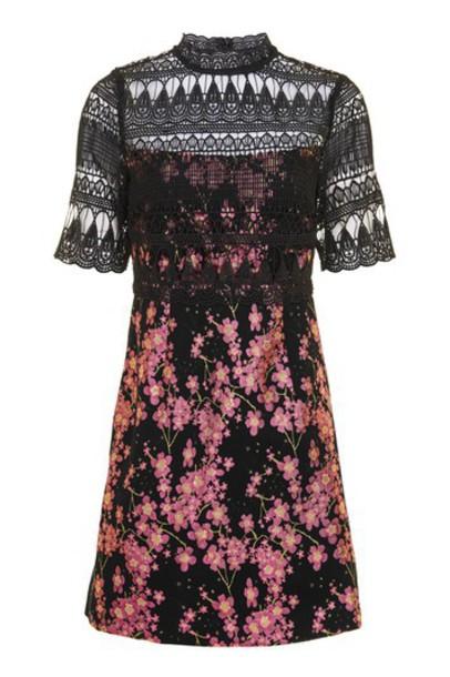Topshop dress jacquard