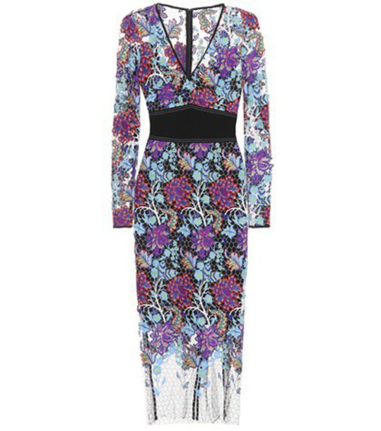 Diane Von Furstenberg dress embroidered dress embroidered