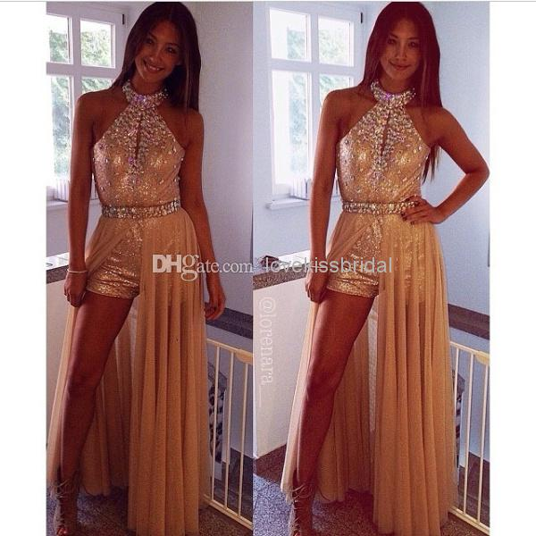 2015 New Special Design Sequin Prom Dresses Bling Crystal Beaded ...