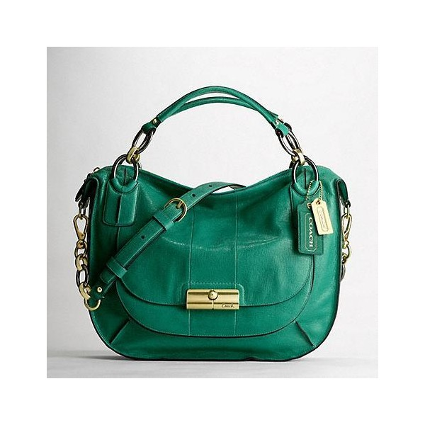 Kristin Elevated Leather Sage Round Satchel - Coach - Polyvore