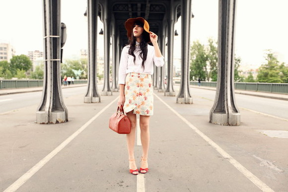 the cherry blossom girl bag skirt shirt shoes