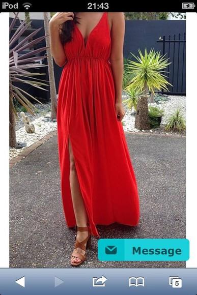 dress maxi maxi dress red dress