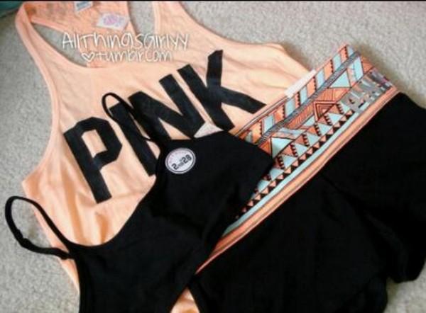 tank top pink shorts