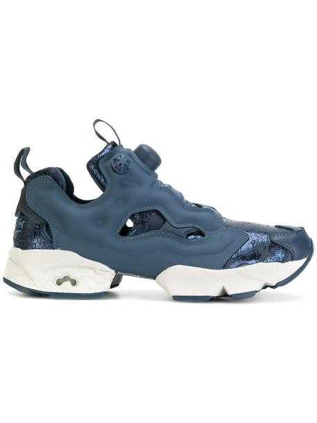 reebok women sneakers leather blue shoes