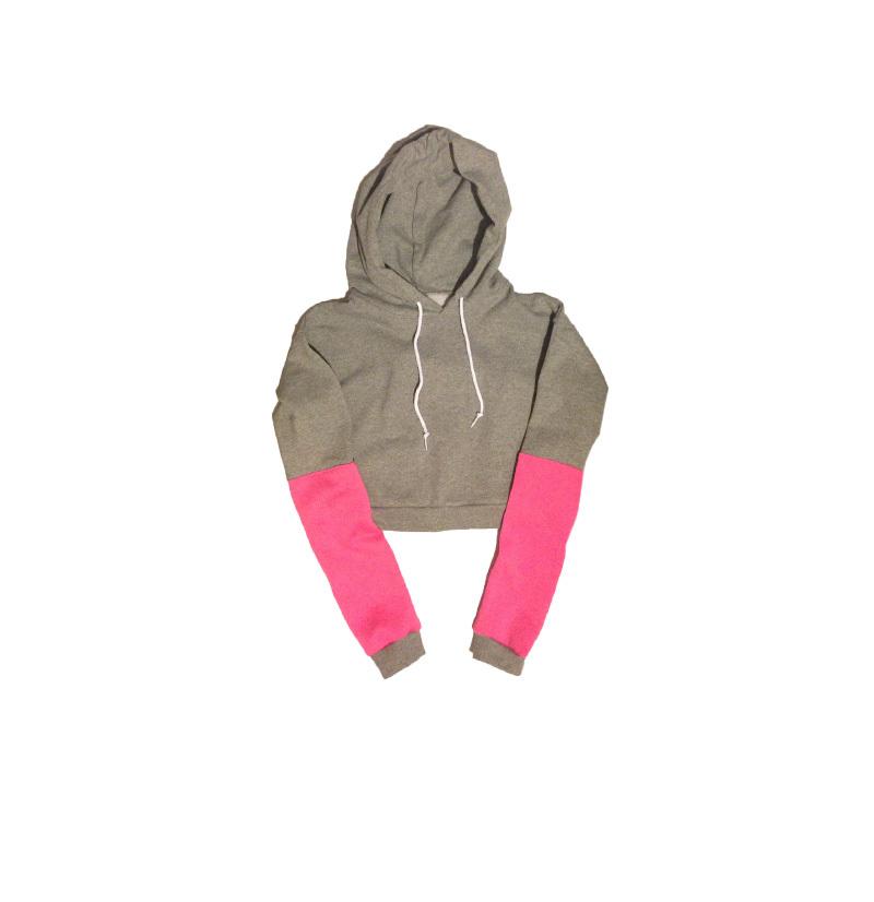 Rose crop top hoodie
