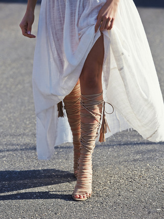 shoes summer boho gypsy nude white dress sandals gladiators